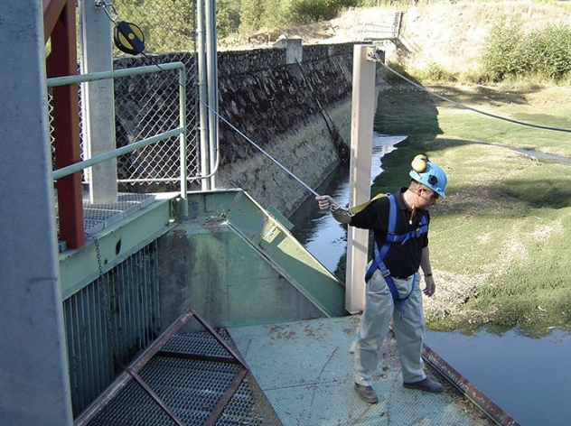 Keep dam workers safe with fall protection systems from Tritech Fall Protection.