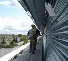 A need to access elevated parts of buildings is often unavoidable. Protect your building access workers!