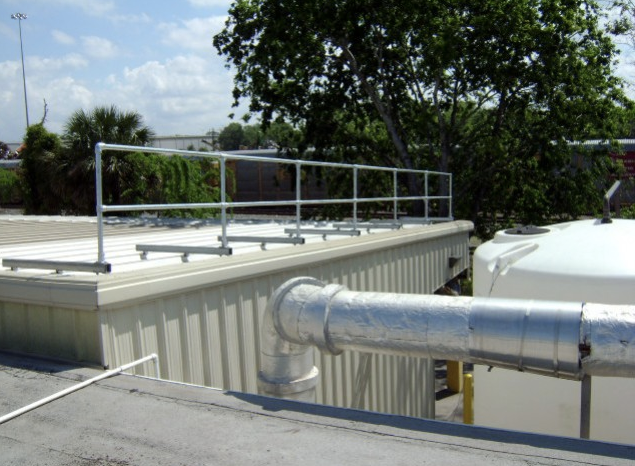 Our guardrails are a part of our fall protection systems for roofs.